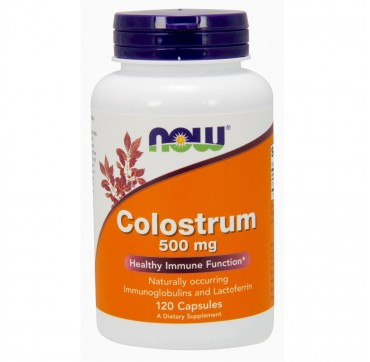 NOW COLOSTRUM 500MG 120 VEG CAPS
