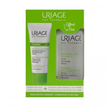 URIAGE PROMO HYSEAC MAT 40ML & ΔΩΡΟ THERMAL MICELLAR WATER 100ML
