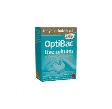 Optibac Probiotics Για Την Χοληστερόλη 30+30 caps