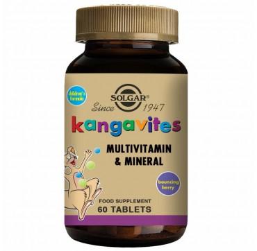 Solgar Kangavites Children's Formula Berry Flavour 60 Chew Tabs