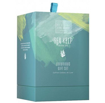 THE SCOTTISH FINE SOAPS Sea Kelp Marine Spa Set Shower Cream, Smoothing Body Polish, body Cream 75ml & Soap 40g