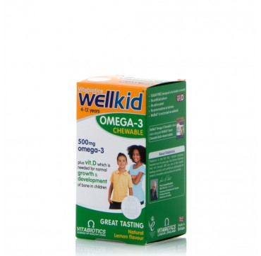 VITABIOTICS WELLKID OMEGA-3 4-12 YEARS 60CHEW CAPS