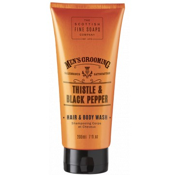 THE SCOTTISH FINE SOAPS MEN'S GROOMING Thistle & Black Pepper Hair & Body Wash 200ml