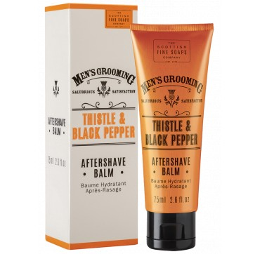 THE SCOTTISH FINE SOAPS MEN'S GROOMING Thistle & Black Pepper Aftershave Balm 75ml