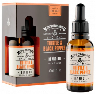 The Scottish Fine Soaps Men's Grooming Thistle & Black Pepper Beard Oil 30ml