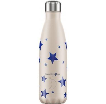 CHILLY'S BOTTLE E.B. BLUE STAR REUSABLE BOTTLE ΑΝΟΞΕΙΔΩΤΟ ΘΕΡΜΟΣ 500ML