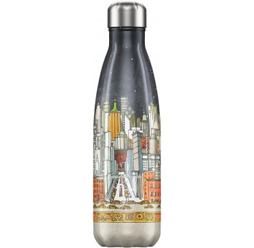 CHILLY'S BOTTLE E.B. NEW YORK REUSABLE BOTTLE ΑΝΟΞΕΙΔΩΤΟ ΘΕΡΜΟΣ 500ML