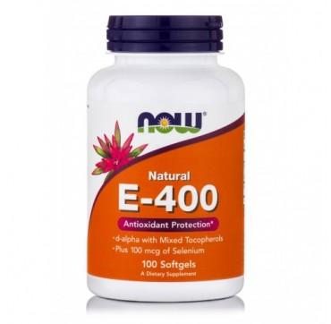 Now E-400 Iu Plus Selenium 100mcg 100 Softgels