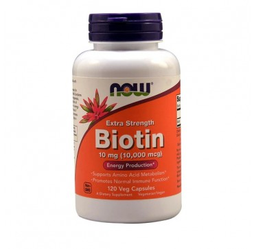 Now Biotin 10mg (10000mcg) 120veg Caps