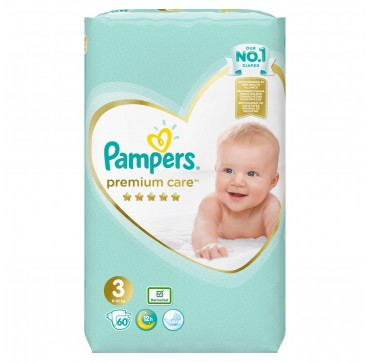 PAMPERS PREMIUM CARE JUMBO BOX No3 (6-10kg) 60 TMX.