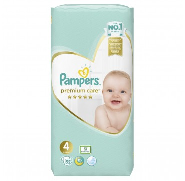 PAMPERS PREMIUM CARE JUMBO BOX No4 (9-14kg) 52 TMX.