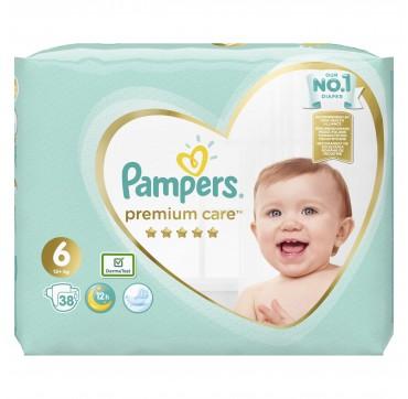 Pampers Premium Care Jumbo Box No6 (13+)kg 38tmx