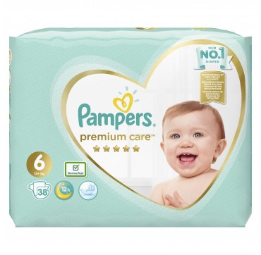 PAMPERS PREMIUM CARE JUMBO BOX No6 (13+)kg 38 TMX.
