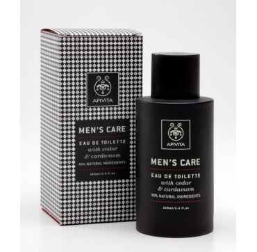 APIVITA MEN`S CARE EAU DE TOILETTE CEDAR & CARDAMOM 100ml