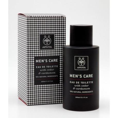 Apivita Men`s Care Eau De Toilette Cedar & Cardamon 100ml