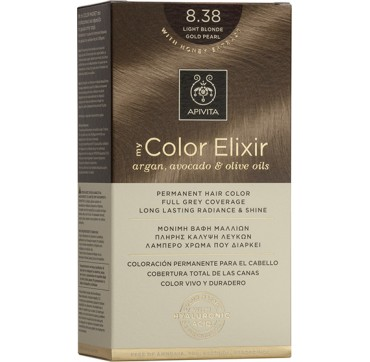 Apivita My Color Elixir 8.38 Ξανθό Ανοιχτό Μελί Περλέ 1TMX