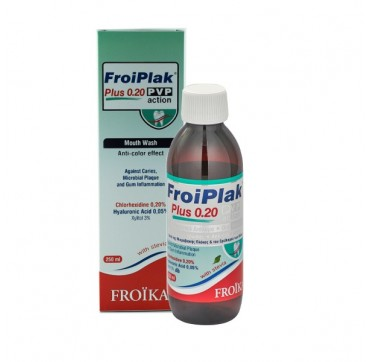 Froiplak Plus Mouthwash Chlorhexidine 0,2% Pvp Action 250ml