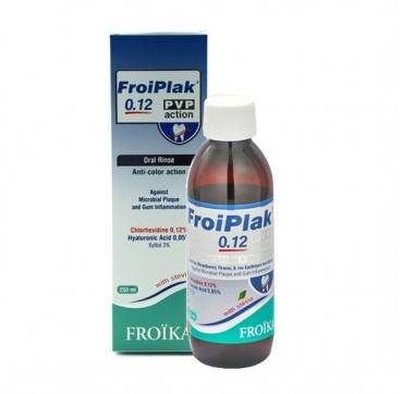 Froiplak Plus Mouthwash Chlorhexidine 0,12% Pvp Action 250ml