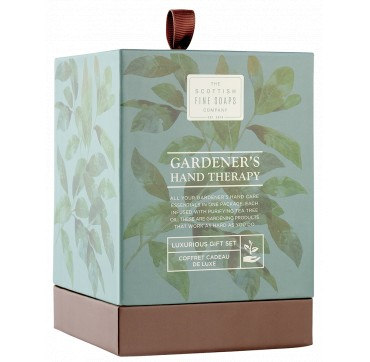 THE SCOTTISH FINE SOAPS Gardener's Hand Therapy Set Hand Wash, Hand Cream , Barrier Cream 75ml & soap bar 40g