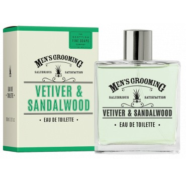 The Scottish Fine Soaps Men's Grooming Vetiver & Sandalwood Eau De Toilette 100ml