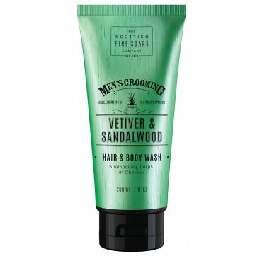 THE SCOTTISH FINE SOAPS MEN'S GROOMING Vetiver & Sandalwood Hair & Body Wash 200ml