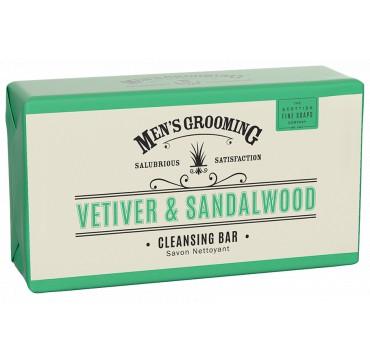 THE SCOTTISH FINE SOAPS MEN'S GROOMING Vetiver & Sandalwood Cleansing Body Bar 220g