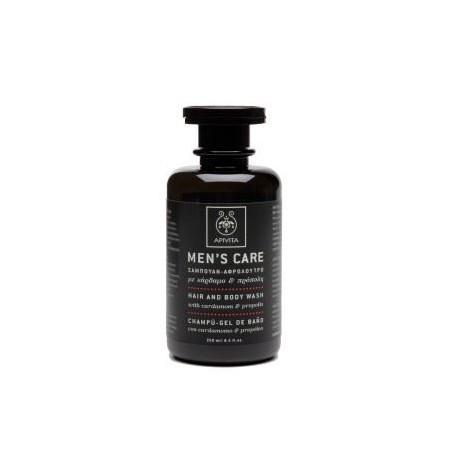 Apivita Men's Care Hair And Body Wash Σαμπουάν & Αφρόλουτρο Με Κάρδαμο Και Πρόπολη 250ml