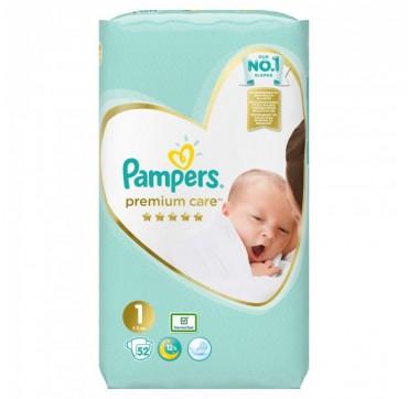 Pampers Premium Care No1 (2-5kg) 52τμχ