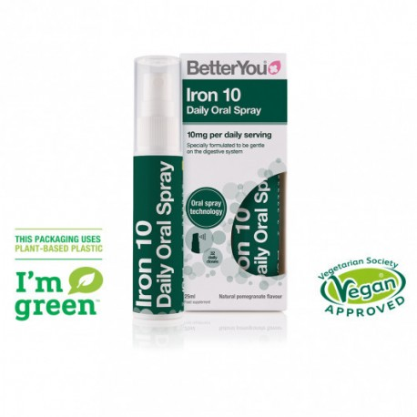 BETTER YOU IRON DAILY ORAL SPRAY 10mg 25ml