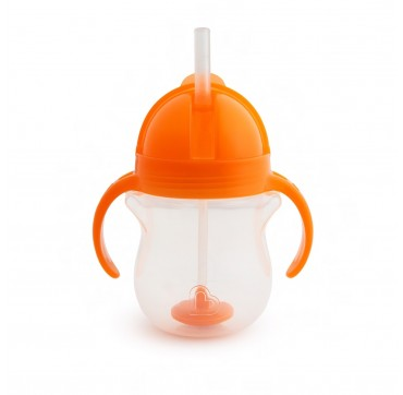 Munchkin Tip & Sip Straw Cup Click Lock Orange (12258) 6m+ 207ml 1τμχ.