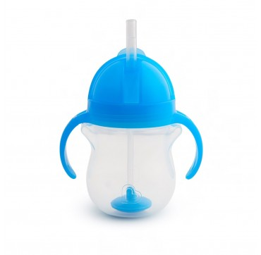 MUNCHKIN TIP & SIP STRAW CUP CLICK LOCK BLUE (12257) 6m+ 207ml 1τμχ.