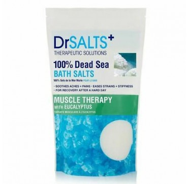DR SALTS+ 100% DEAD SEA BATH SALTS MUSCLE THERAPY WITH EUCALYPTUS 1KG