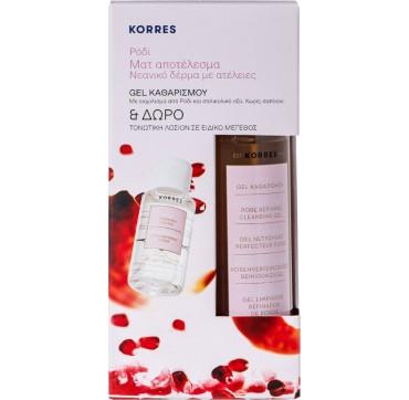 Korres Set Ρόδι Gel Καθαρισμού 200ml & Τονωτική Λοσιόν 30ml