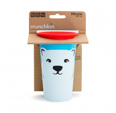MUNCHKIN MIRACLE 360 CUP POLAR BEAR (51779) 12m+ 266ML