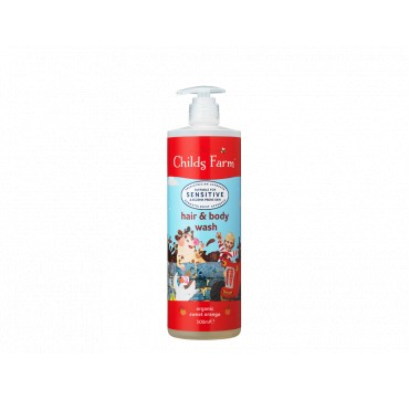 CHILDS FARM HAIR & BODY WASH SWEET ORANGE ( SUITABLE FOR NEWBORN & UPDWARDS) 500ML