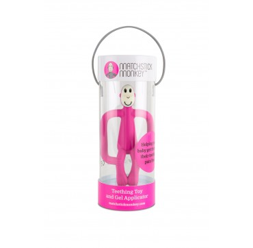 Matchstick Monkey Teething Toy And Gel Applicator Pink 1τμχ