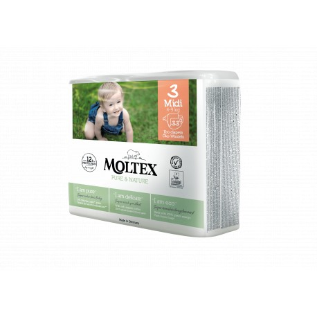 MOLTEX PURE & NATURE No3 MIDI (4-9kg) 33τμχ.