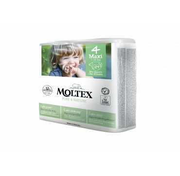 Moltex Pure & Nature No4 Maxi (7-18kg) 29τμχ