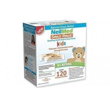 Neilmed Sinus Rinse Kids Ανταλλακτικά Ρινικών Πλύσεων Μεγάλου Όγκου / 120 Premixed Sachets