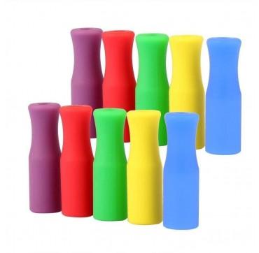 Ecostrawz Silicone Straw Mouthpiece Στόμιο Σιλικόνης Για Επαναχρησιμοποιούμενα Καλαμάκια 8mm 2τμχ