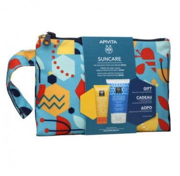 APIVITA SUNCARE PROMO PACK OIL BALANCE FACE SUN CREAM spf30+ 50ml & ΔΩΡΟ AFTER SUN 100ml ΣΕ ΣΥΛΛΕΚΤΙΚΟ NECESSAIRE