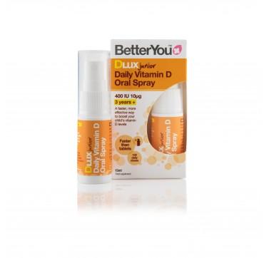 Better You Dlux D Junior 400iu Υπογλώσσιο Spray 15ml (100 Ψεκασμοί)