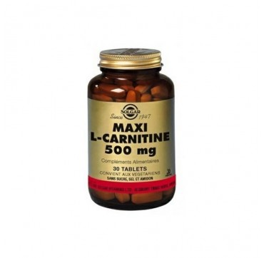SOLGAR L-CARNITINE 500 mg 30tabs