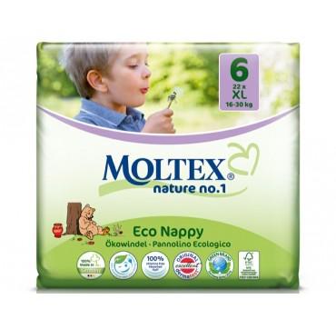 Moltex Οικολογικές Πάνες Νο6 16-30kg 22τμχ