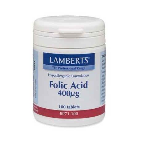 LAMBERTS FOLIC ACID 400 mg 100tabs