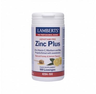 Lamberts Zinc Plus Με Βιταμίνη C Και Πρόπολη 100lozenges