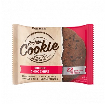 Weider Vegan Protein Cookie W/22g Protein Double Choc Chips 90g