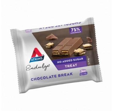 ATKINS ENDULGE CHOCOLATE BREAK WITH NO ADDED SUGAR 3X21.5G TMX