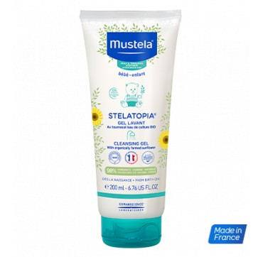 Mustela Bebe Stelatopia Cleansing Gel Αφροντους Για Σώμα & Μαλλιά Για Ατοπικο Δέρμα 200ml
