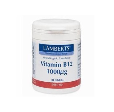 Lamberts Vitamin B12 1000mg (cobalamin) 60tabs